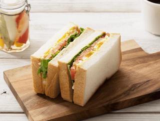 三色サンドイッチ(レタス・トマト・タマゴ)